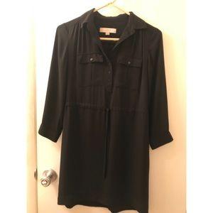 Loft Black Utility Dress